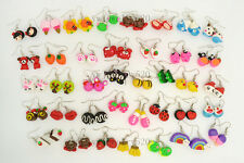 Wholesale 30pairs Mixed Lots cute style Handmade 3D Fimo Polymer Clay Earrings