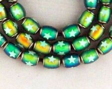 Lot 10 MOOD Mirage BEAD 6x10mm Oval with Glow in Dark Star Insert ~ Way Cool!