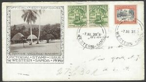 61 Western Samoa 1935 1/2d & 2d illustrated FDC First Day cover