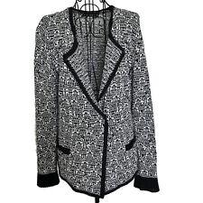 Nic + Zoe Textured Cardigan Sweater Top Stretch Knit Linen Cotton Blend Petite L