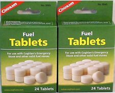 48 HEXAMINE ESBIT FUEL TABLETS FOR EMERGENCY STOVES, FIRE KEEP, WARM, COOK!