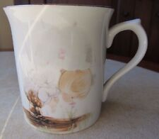 "Vintage 1985 Enesco Precious Moments ""Blessed are."" Gold Accent Coffee Mug Cup"