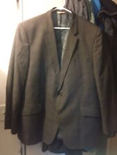 Jacket Blazer 48R Mens Plaid Vintage VGC Brown