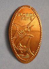 Florida Keys elongated penny Usa cent Blue Marlin souvenir coin Fishing