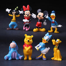 8 pcs Disney Mickey Mouse Clubhouse Figures Figurine Cake Toppers Christmas Gift