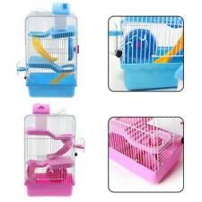 3 Storey Hamster Cage Pet Mice Rat Gerbil Play House -Water Bottle Wheel Ladder