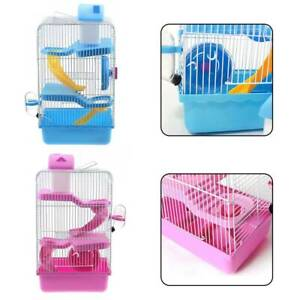 3 Storey Hamster Cage Pet Mice Rat Gerbil Play House -Water Bottle Wheel Ladder