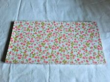Vintage Pink Flowers Floral Flat Linens Extra Large Gift Box