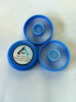 No Spill Reusable Water Bottle Caps 48mm Screw On (Pack of 3) BPA Free