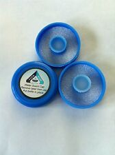 No Spill Reusable Water Bottle Caps 55mm Snap/ Push On (Pack of 3) BPA Free