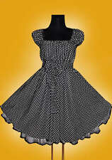 Nuovi taglia 48 50 52 Da Donna Rockabilly 50er Petticoat PIN UP SERA PARTY ABITO VINTAGE