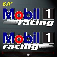 "6.0""x2p. mobil 1 formula racing oil auto lube decal sticker print full die-cut"