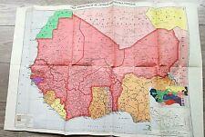 17 - CARTE ANCIENNE ADMISTRATIVE DE L'AFRIQUE OCCIDENTALE FRANCAISE 1954