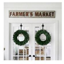 EMBOSSED LARGE METAL FARMER'S MARKET SIGN~VINTAGE FARMHOUSE STYLE