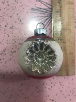 Vintage Christmas Shiny Brite Mercury Glass Double Indent Mica Ornament Small