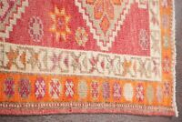 Vegetable Dye TRIBAL Oushak Turkish Oriental Stair Runner Rug Wool Carpet 3'x11'