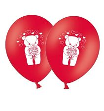 """Teddy Bear Love Theme - 12"""" Printed Latex Balloons Red 25 ct By Party Decor"""