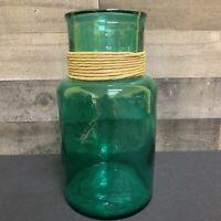 "SAN MIGUEL VIDRIOS 10 3/4"" Aqua Green Art Recycled Glass Vase Spain"