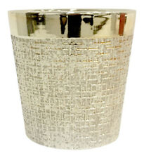 Plant Pot Holder - Gold Ceramic Luxury Stylish Flower Planter Home Indoor 13.5cm