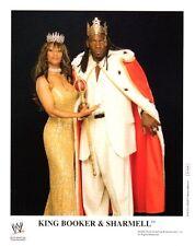 "Foto WWE KING BOOKER T QUEEN sharmell 8x10"" WRESTLING PROMO"