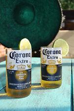 2x Corona Glas Upcyceling aus original Corona Bierflasche - Trinkglas -