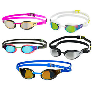 NEW Speedo Fastskin 3 Elite Racing Goggles - Competition Fast Skin Mirror Goggle