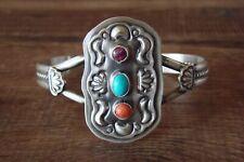 Navajo Sterling Silver Turquoise Spiny Oyster Bracelet  - JJJ
