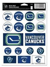 """(HCW) Vancouver Canucks Vinyl Sticker Sheet 5""""x7"""" Decals NHL Licensed FREE SHIP"""