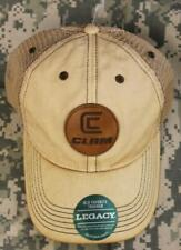 CLAM Patch 12717 Old Favorite Legacy Trucker Cap Khaki Mesh Low Profile Fit NEW!