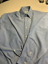 Lacoste Oxford Mens Shirt Blue 15/39 Used Vintage