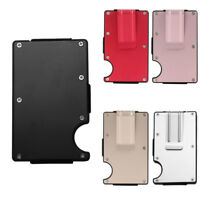 Men Slim Money Clip Wallet Purse Aluminium Pocket RFID Blocking ID Card Holder
