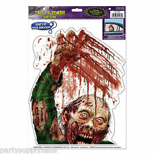 Halloween SCARY ZOMBIE Window Cling CAR DECORATION Fear Walking Dead GAG Prank