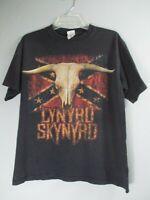 Lynyrd Skynyrd Anvil Medium 100% Cotton Short Sleeve Solid Black Graphic T-Shirt