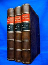 DAVID ROBERTS The Holy Land 1855-6 Middle East EGYPT Arabian SET 6 Vols in 3 VTG