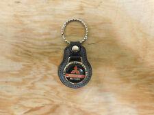 Vintage Mitsubishi Leather Key Fob Ring Keychain Chain