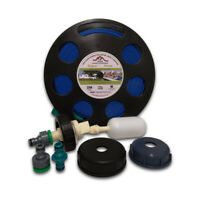 Universal Mains Water Adaptor with 10m Flat Hose on Reel