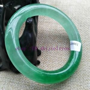 57-62mm Certified Natural Green Jadeite JADE Bracelet Bangle Quartzite