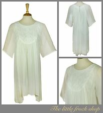 MUNTHE CREAM EMBROIDERED SMOCK DRESS TUNIC SIZE 10 38  Us 6 BNWT