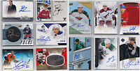 Autograph Auto Signature RC SP Numbered Cards - Choose From List - NHL Hockey