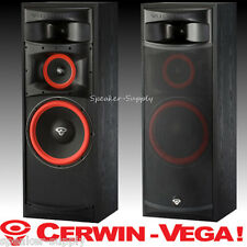 Pair (2) New Cerwin-Vega XLS-12 12in 3 way Floor Tower Speakers Home Theater Set