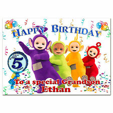 g009 Special Personalised Birthday greeting CARD with your text; Teletubbies