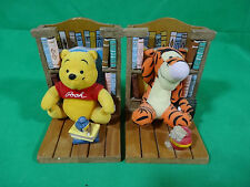 Set Of Two Disney Winnie The Pooh And Tigger BookEnds With Mini-Books