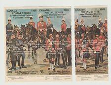 "Canada- Postal Strike 1969 x 6 (50c,$1 & $3) ""stamps"" JR MacLean's Trucking & De"