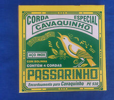 BRAZILIAN STRINGS FOR CAVAQUINHO SET OF 4 STEEL STRINGS TORELLI CAVACO