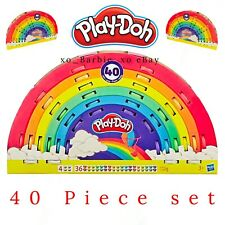 40 Cans Pack Play-Doh Ultimate Rainbow Kids Clay Compound 7 Colours 3 Tools 1kg