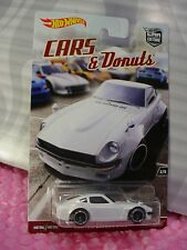 2017 CARS & Donuts CUSTOM DATSUN 240Z #2☆white;realriders☆Hot Wheels Car Culture