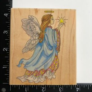 Stamps Happen Celestial Angel 80020 Wood Mounted Rubber Stamp