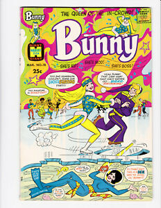 Bunny #18 Harvey 1971 FN+ 6.5 Psychedelic 70'S cover. Hard to find issue.
