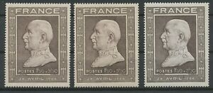 [P848] France 1944 good stamp VF MNH shade rose-brown (2x) value $26