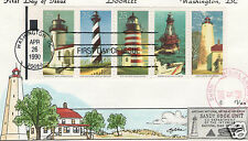 VAN NATTA EASTERN LIGHTHOUSES SANDY HOOK NJ HAND PAINTED HP FIRST DAY COVER FDC